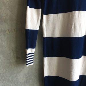 Madewell | Wallace sweater navy white stripe dress